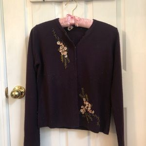 Free People cardigan  sz S with embroidery